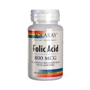 Folic Acid 800 mcg. 100 vcaps.