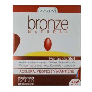 Bronze natural. 30 perlas